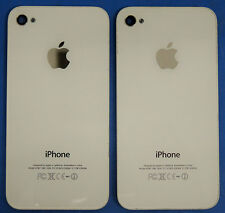 Lot 2 Genuine iPhone 4S White Battery Door A1387 GSM CDMA Glass Back Cover /Logo