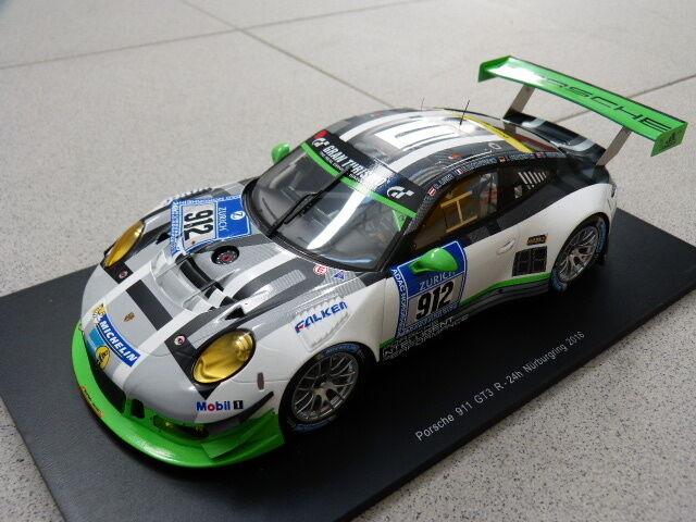 Porsche 911 991 GT3 R 24h Nürburgring Nürburgring Nürburgring 2016 Manthey Modèle de Voiture 1 18 5d03af