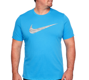 6b5e855efc93 Mens Nike DRI-FIT Swoosh Tee Shirt Big   Tall 839893482 Athletic Cut ...