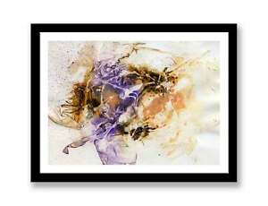 Wall-Art-Abstract-Picture-Modern-Painting-Purple-Brown-ID-1339