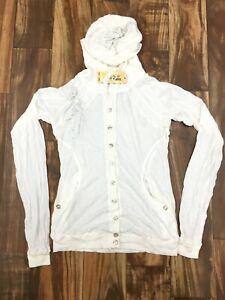 NEW Da-Nang Surplus Casual Cardigan/ Blouse Long Sleeve WHITE CFG20371377 SMALL