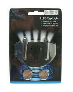 Linterna-de-cabeza-5-LED-con-clip-Pesca-Camping-Lampara-GORRO-GORRA-Boyz-Toys