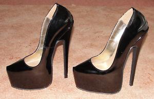 41 Black 3 Fetish Sz Patent Extreme Cm Sexy Pumps 20 Leather Shoes Heels Ew8SPOqxpn