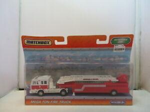 Matchbox Mega Ton Fire Truck Hook and LadderNIB