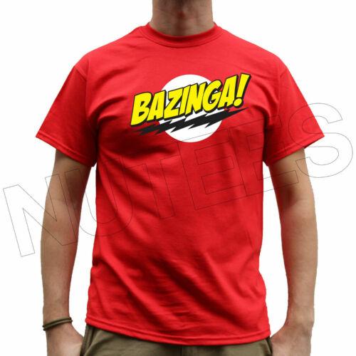 Bazinga The Big Bang Theory Inspired Mens Ladies T-Shirts Tank Top Vests S-XXL