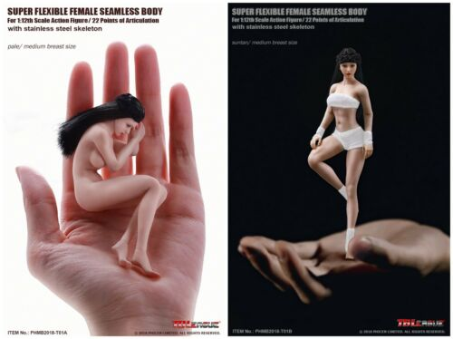 TBLeague PHMB 2018-T01B 1//12th Flexible Female Bronzage Peau Transparente Figure Body
