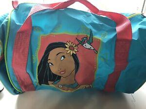 Rare Vintage Disney Pocahontas 90s Gym Work Bag pvc duffle duffel Turquoise