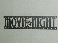 Movie Night Film Strip Wood Wall Art Decor Sign 24 Wide