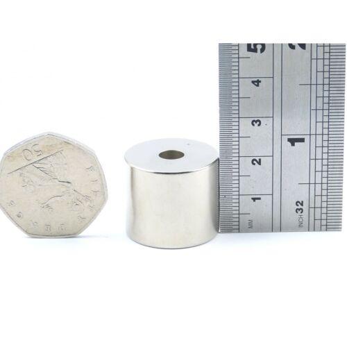 N35 23 mm OD x 6 mm ID x 20 mm large strong neodymium ring DIY MRO VAR.PACKS