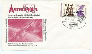 1974 Astrophila Internationale Philatelistische Raumfahrt Ausstellung Reucht 1 Apparence Brillante Et Translucide