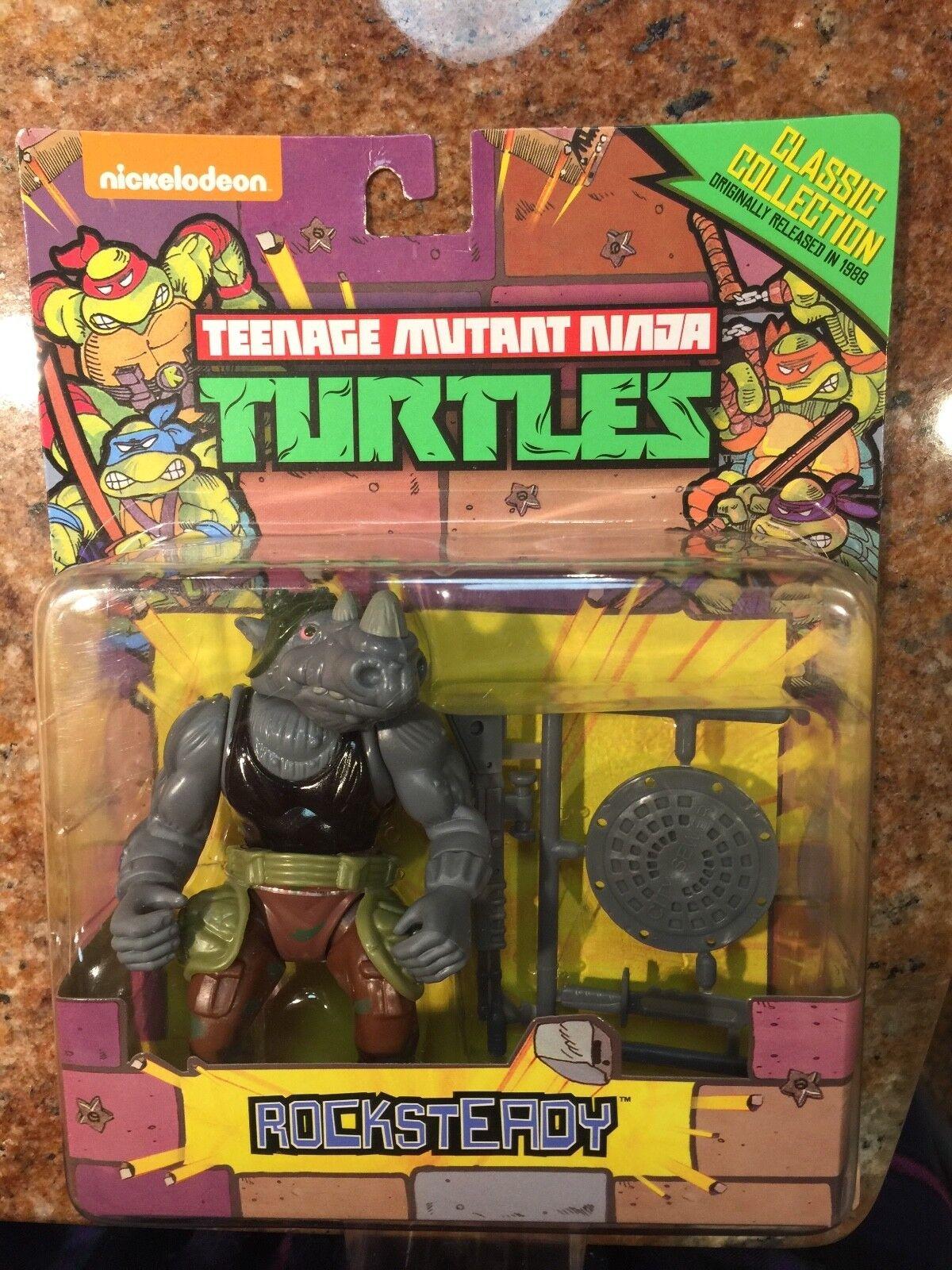 Teenage mutant ninja turtles classeic collezione Rocksteady TMNT Playmates
