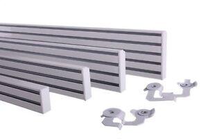 gardinenschiene aluminium schiebevorhang alu wei 2 l ufig 0 20m bis 4 00m ebay. Black Bedroom Furniture Sets. Home Design Ideas