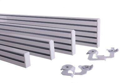 Gardinenschiene Aluminium Schiebevorhang Alu - weiß 2 läufig   0,20m bis 4,00m