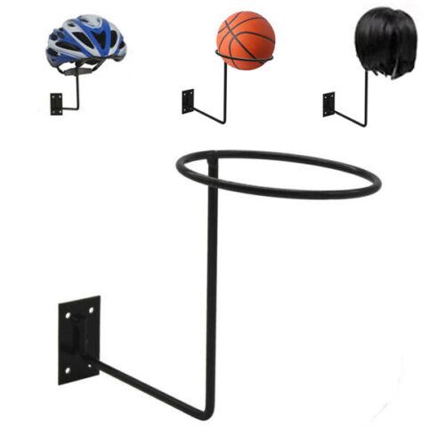 Wall Mount Display Rack Ball Motorcycle Helmet Wig Wall Hanger Display Iron Rack