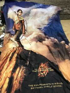 Details about The Hunger Games Catching Fire Movie Promo Wall Hang Flag  Banner Dorm 29