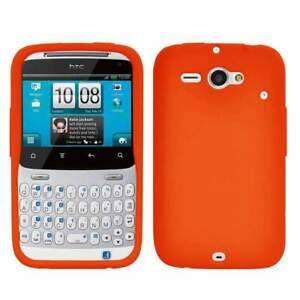 AMZER-Silicone-Skin-Jelly-Case-Cover-For-HTC-ChaCha-Status-Orange