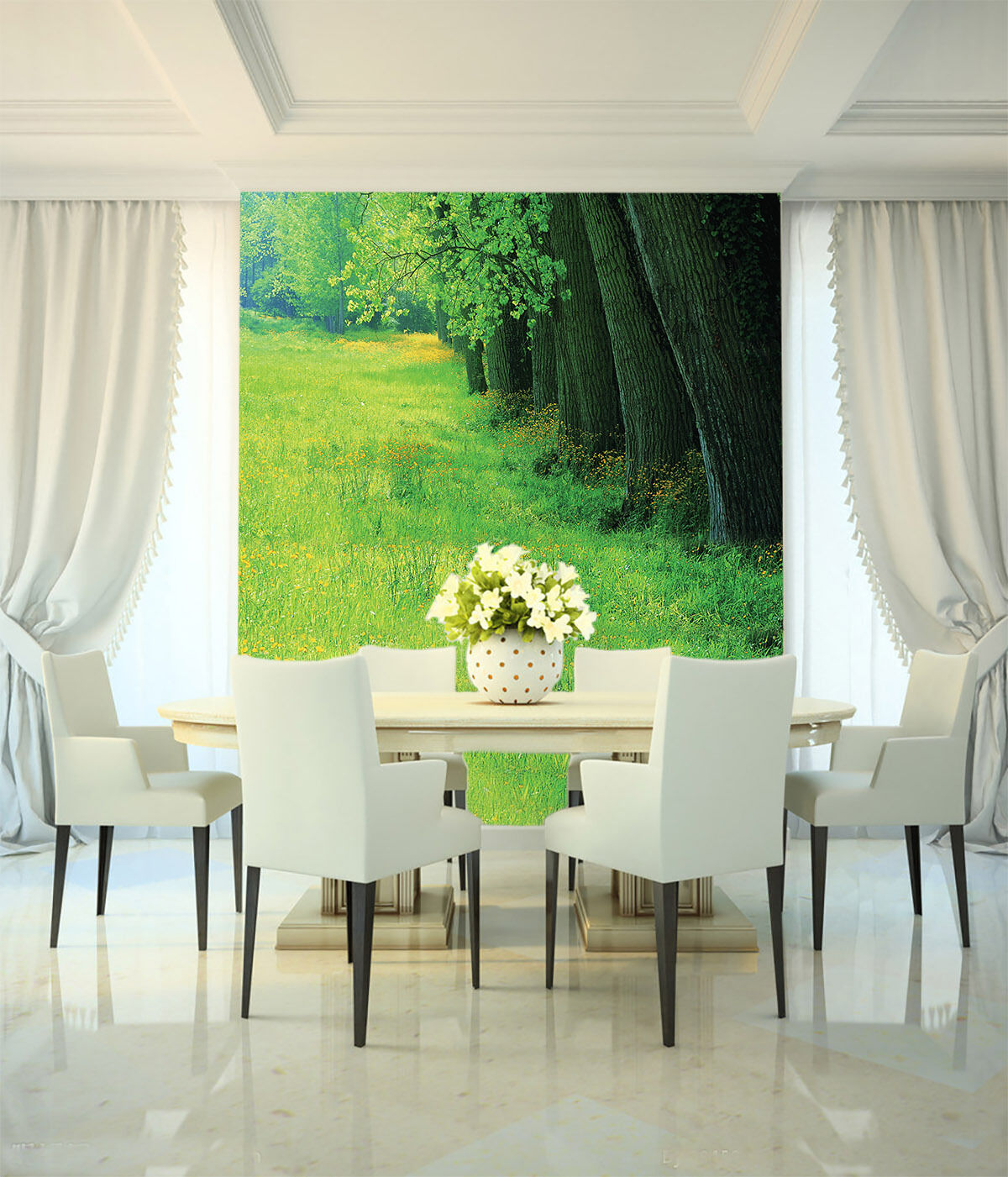 3D Grün lawn tree 2974 Paper Wall Print Decal Wall Wall Murals AJ WALLPAPER GB
