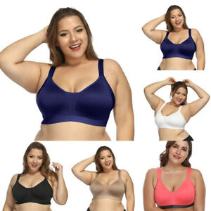 1ece7aa8f09a9 Plus Size Women s Seamless Active Lifestyle Full Coverage Bra Push ...