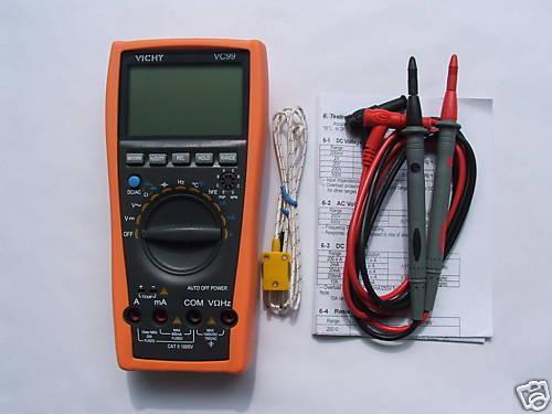 VC99 3 6//7 Auto range DMM multimeter tester AC DC buzz Temp RCF  17B