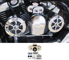 Love Jugs Chrome Coolmaster Engine Cooling Fans + VBM Kit for Harley Motorcycles