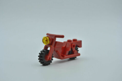 LEGO Motorrad Bike Town Classic rot Red Motorcycle Town with Red Wheels x81c01