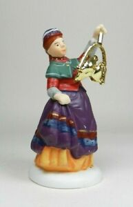 Dept-56-HV-Series-Christmas-Village-Porcelain-People-Girl-with-Gold-Birds