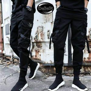 Pantalones Casuales Para Hombres De Algodon Joggers Pants Men Slim Man Trousers Ebay