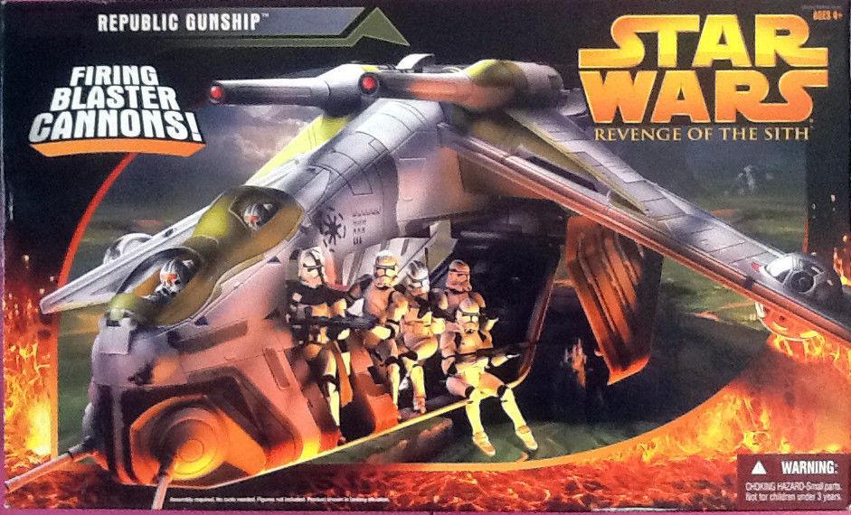 servicio de primera clase Estrella Wars La Venganza De Los Sith Sith Sith Republic Gunship Hasbro 2005 Nuevo Sellado difícil de encontrar  mejor calidad mejor precio