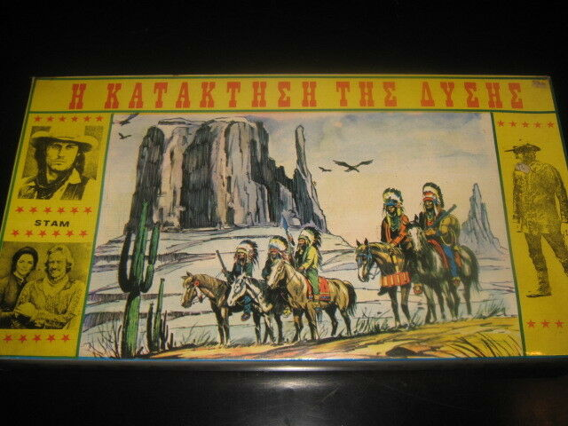 UNIQUE GREEK BOARDGAME - HOW THE WEST WAS WON - - - THE MACAHANS TV 70s SEALED NEW ae0f1b