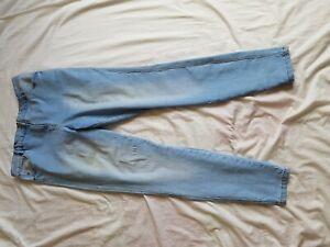"Sensible Femmes Matalan Délavé Bleu Clair Skinny Jeans Taille 36"" Jambe 30"" Taille 18"