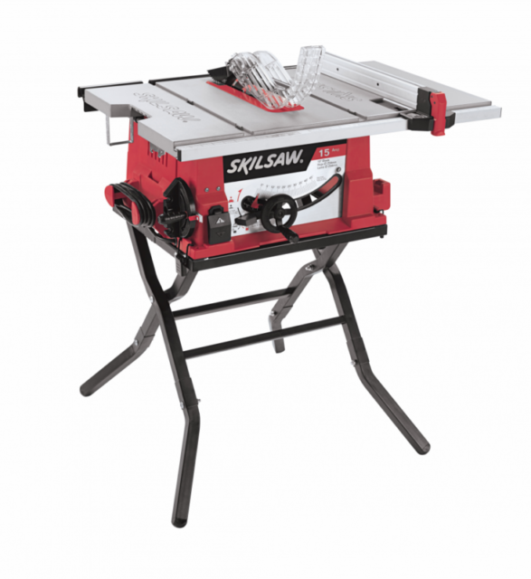 Table Saw 15 Amp Corded Electric 10 Inch With Folding Stand Skil Robust Design