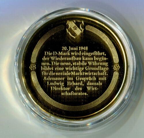 Konrad Geldschritt M Reform Medal Adenauer für 1192 Stabukität Silber dwqWgvt