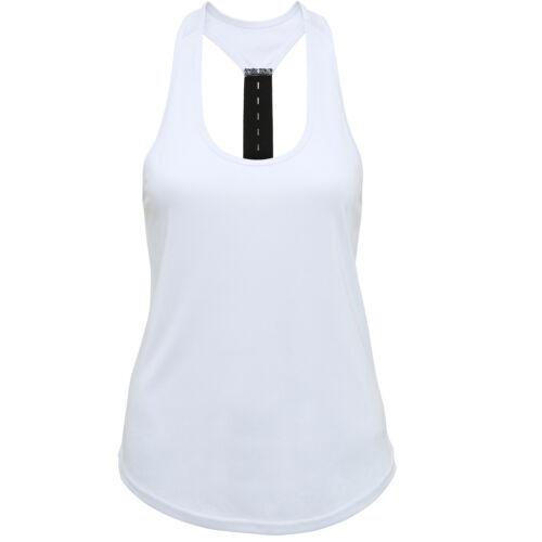 Ladies TriDri Performance Tank Top Running Vest Gym Womens Sports Fitness Shirt