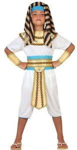 Déguisement Garçon Pharaon 7/8/9 Ans Costume Enfant Roi Egypte Egytien Neuf