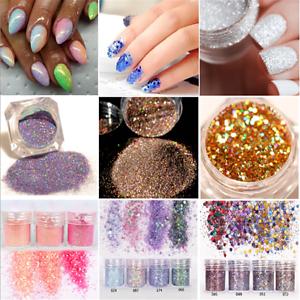 For-UV-GEL-Acrylic-Powder-Decoration-Tips-DIY-Nail-Art-Glitter-Powder-Dust-FT