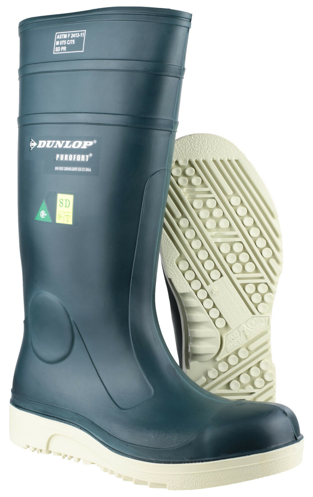 Dunlop Purofort Unisex Comfort Grip Completo Di Sicurezza Unisex Purofort Impermeabili Wellingtons uk3-12 c8e280