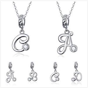 BAMOER-Women-26-Letter-Charm-CZ-Pendant-925-Silver-Fit-European-Bracelet-Chain