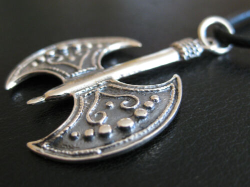 KA 286 Doppel Axt Amulett 925/'er Silber Wikinger Anhänger