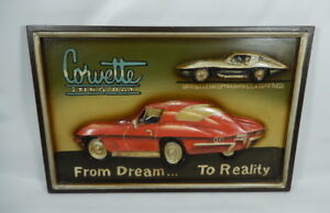 Details About Corvette Stingray Dream To Reality 3d Wood Wall Art Decor Man Cave Garage