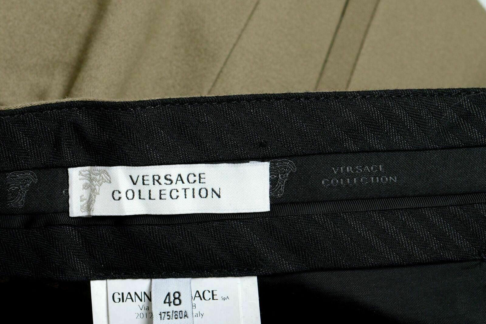 Versace Versace Versace Collection Herren Grau Stretch Freizeithose Us 32 It 48 | Fein Verarbeitet  82a37e