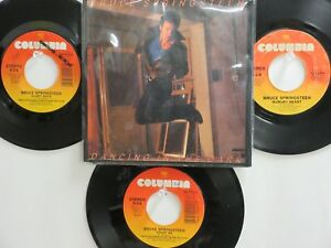 LOT OF 4 ' BRUCE SPRINGSTEEN ' HIT 45's+1PS[Dancing In The Dark]   THE 80's!