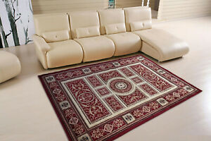 Red-Beige-High-Quality-Modern-Thick-Dense-Carved-Pile-Rug-Carpet-Mat-New-2019