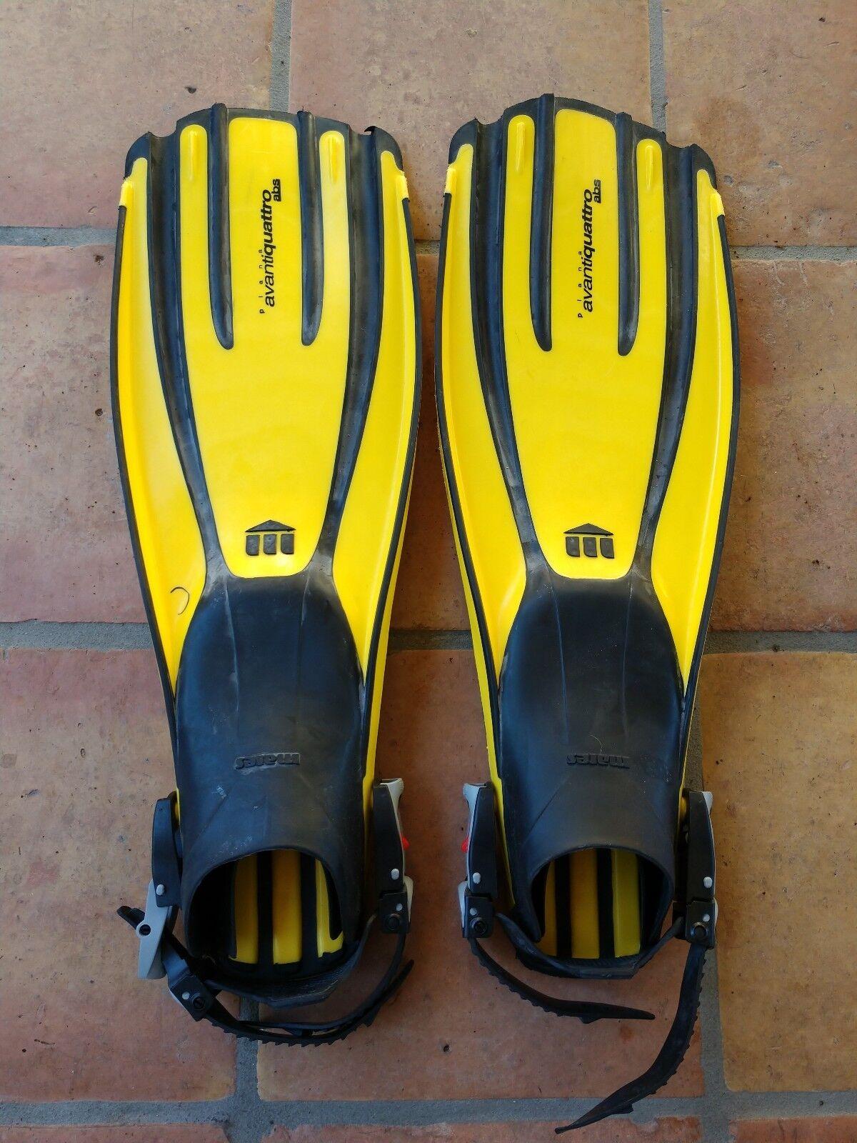 Mares Plana AdvantiQuattro yellow scuba Fins size regular