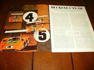 1969 McLAREN CAN AM RACE CAR @ MID OHIO ***ORIGINAL VINTAGE ARTICLE***