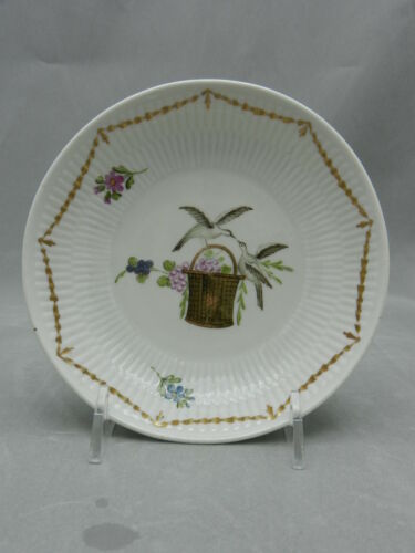 ***RARE**  WALLENDORF HAND PAINTED CUP AND SAUCER C.1785