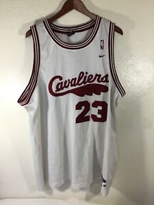 new concept 6bf68 457c4 Details about Cleveland Cavaliers #23 Lebron James White Nike Team Sport  Jersey Size 3XL