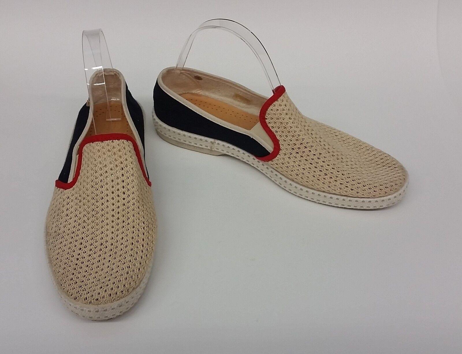 vendita all'ingrosso Rivieras scarpe Flats Flats Flats Cream blu rosso Slip On scarpe da ginnastica Mesh Dimensione US 10.5 EU 41  consegna veloce