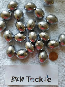 2oz Egg Sinkers // Slip Sinkers 25pcs Fishing Lead Weights