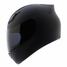 NEW Duke Full Face Motorcycle Helmets DOT Matte Black + 2 VISORS - S M L XL XXL