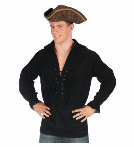 Swashbuckler Pirate Vampire Shirt Adult Costume Accessory Standard Size Black